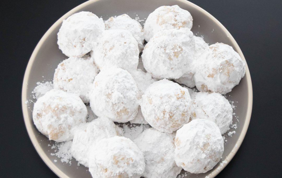 Snow ball–śnieżne ciasteczka, bez orzechów i jajek